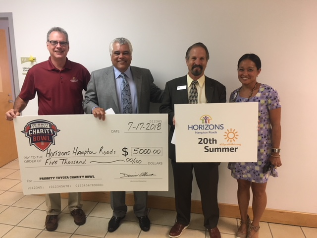 Horizons Hampton Roads check presentation